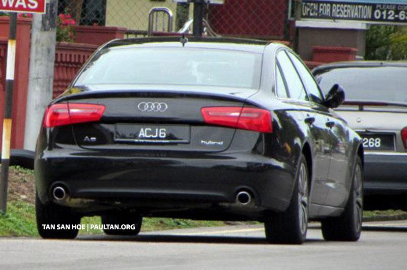 SPIED: Registered Audi A6 Hybrid spotted in Melaka Image #152564