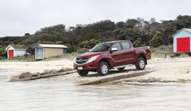 Mazda BT-50 pick-up truck sighted at Westport Image #114003