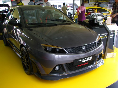 We previously saw this concept car in Shanghai) and now the Artiga is here,  at the Proton Power of 1 in all its metal glory. 5094e74fb4a