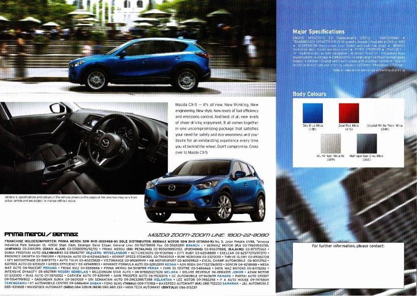 Mazda CX-5 brochure and price leaked – from RM159k Image #99990