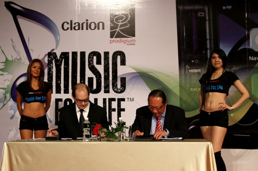 Clarion and Prodigium Mobile sign MoU for in-car DRM-free MP3 music store in Malaysia – 18,000,000 songs! Image #100145
