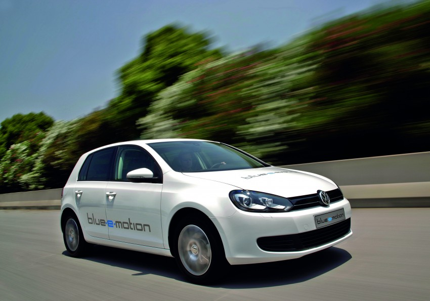 Electric Volkswagen Golf Blue-E-Motion prototype – a preview test drive in Wolfsburg, Germany Image #127812