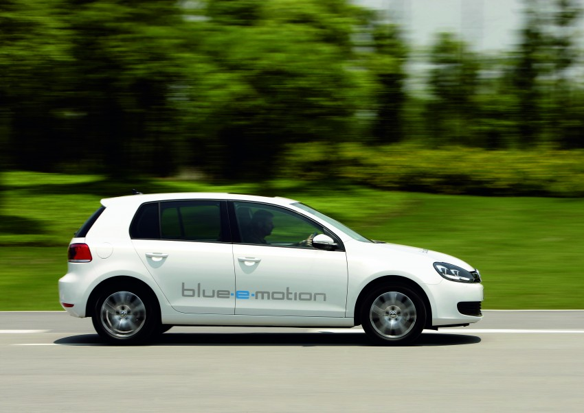 Electric Volkswagen Golf Blue-E-Motion prototype – a preview test drive in Wolfsburg, Germany Image #127813