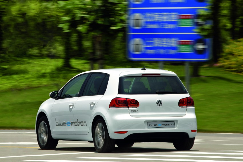 Electric Volkswagen Golf Blue-E-Motion prototype – a preview test drive in Wolfsburg, Germany Image #127810