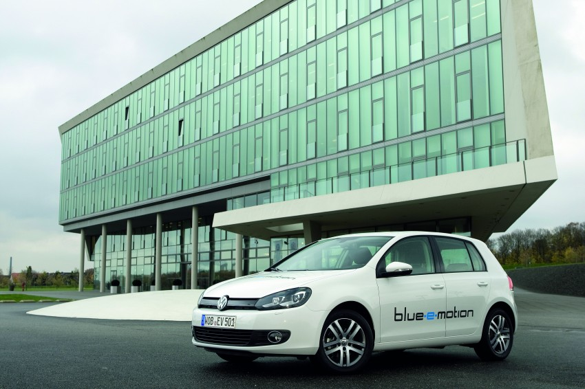 Electric Volkswagen Golf Blue-E-Motion prototype – a preview test drive in Wolfsburg, Germany Image #127833