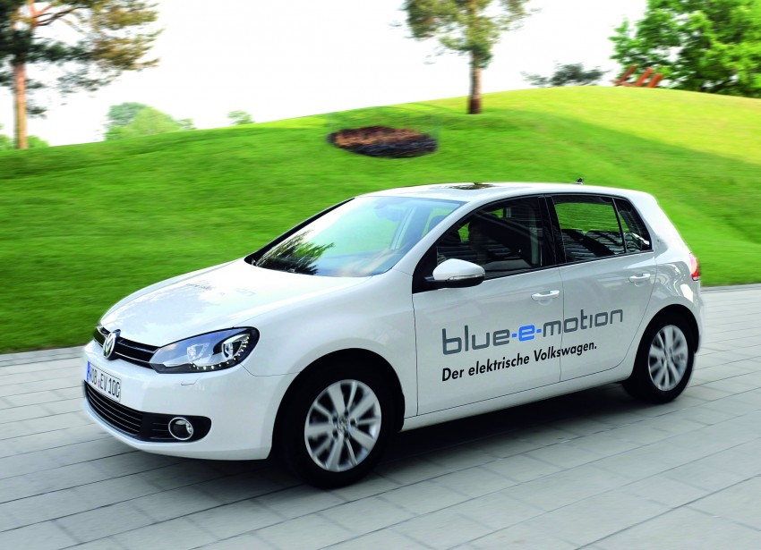 Electric Volkswagen Golf Blue-E-Motion prototype – a preview test drive in Wolfsburg, Germany Image #127844