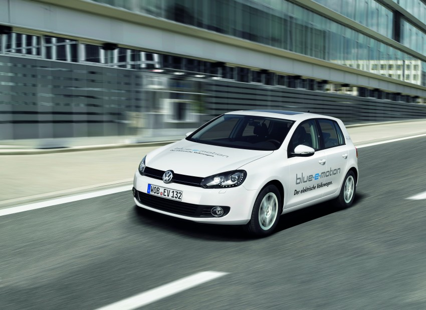 Electric Volkswagen Golf Blue-E-Motion prototype – a preview test drive in Wolfsburg, Germany Image #127849
