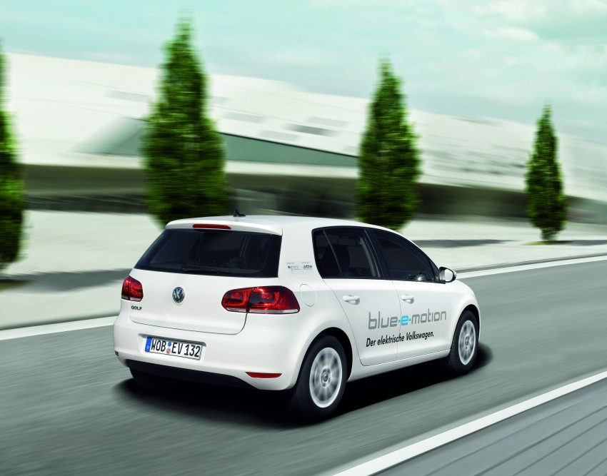 Electric Volkswagen Golf Blue-E-Motion prototype – a preview test drive in Wolfsburg, Germany Image #127848