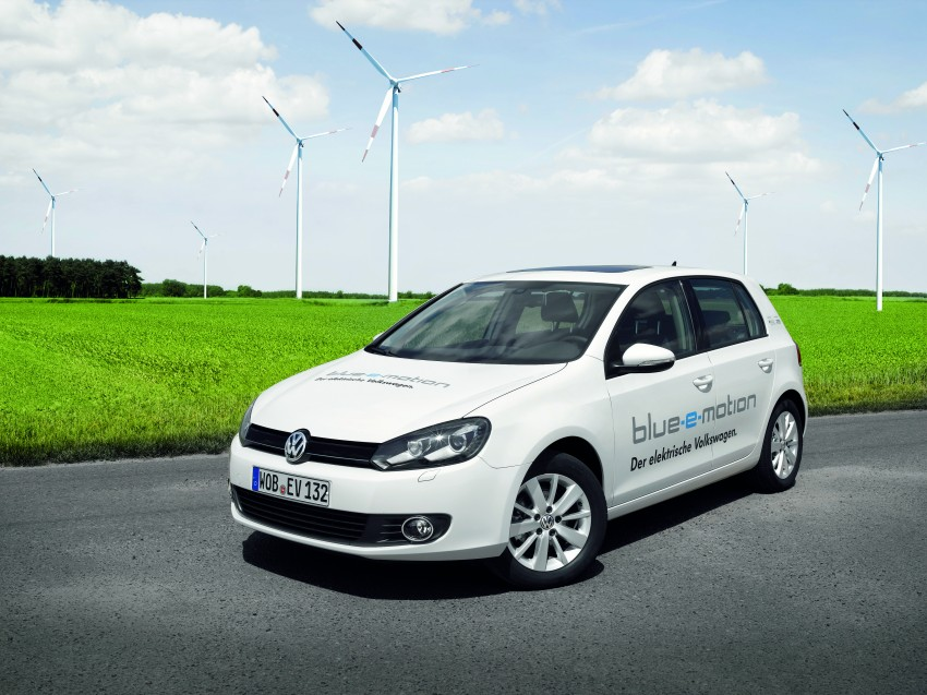 Electric Volkswagen Golf Blue-E-Motion prototype – a preview test drive in Wolfsburg, Germany Image #127845