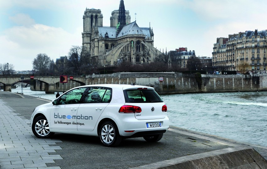 Electric Volkswagen Golf Blue-E-Motion prototype – a preview test drive in Wolfsburg, Germany Image #127854