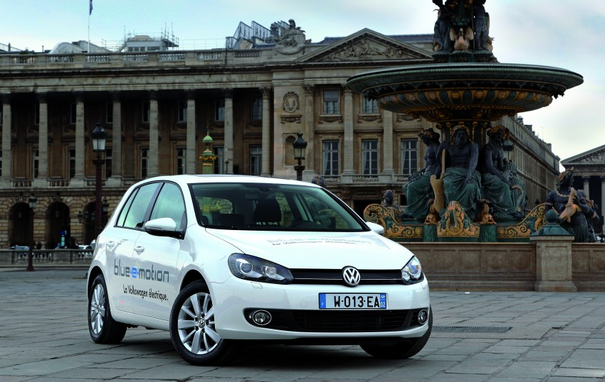 Electric Volkswagen Golf Blue-E-Motion prototype – a preview test drive in Wolfsburg, Germany Image #127858