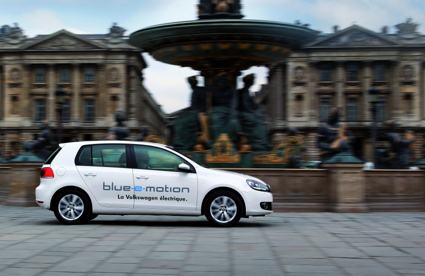 Electric Volkswagen Golf Blue-E-Motion prototype – a preview test drive in Wolfsburg, Germany Image #127855
