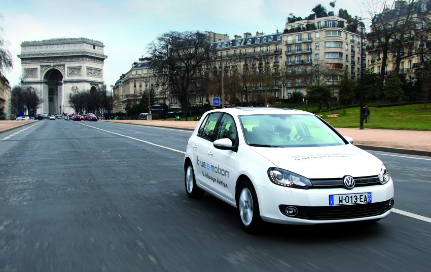 Electric Volkswagen Golf Blue-E-Motion prototype – a preview test drive in Wolfsburg, Germany Image #127860
