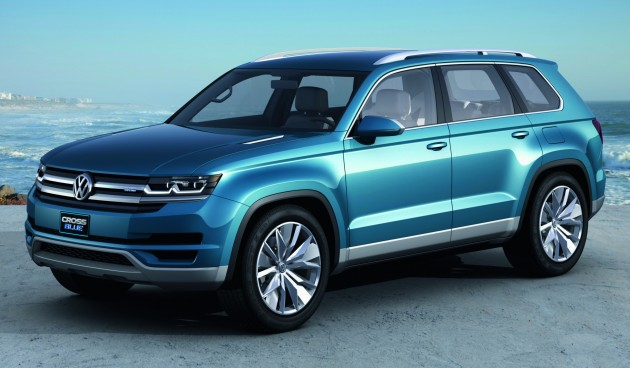 Volkswagen Crossblue Concept Mqb Based Seater