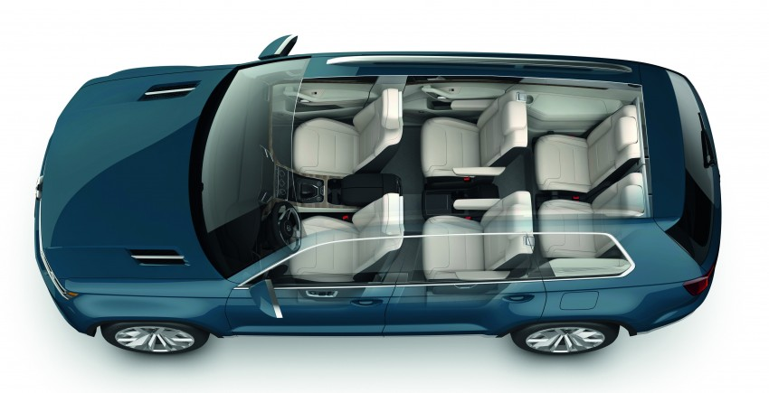 Volkswagen CrossBlue Concept: MQB-based 7-seater Image #149710
