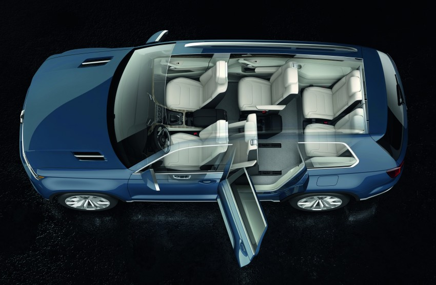 Volkswagen CrossBlue Concept: MQB-based 7-seater Image #149699