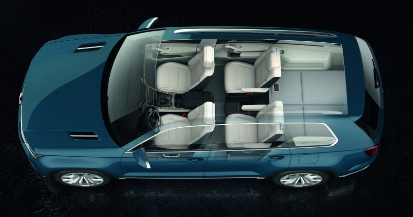 Volkswagen CrossBlue Concept: MQB-based 7-seater Image #149702