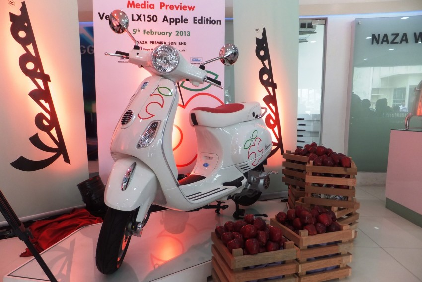Vespa LX150 Apple limited edition launched: RM11,388 Image #152663