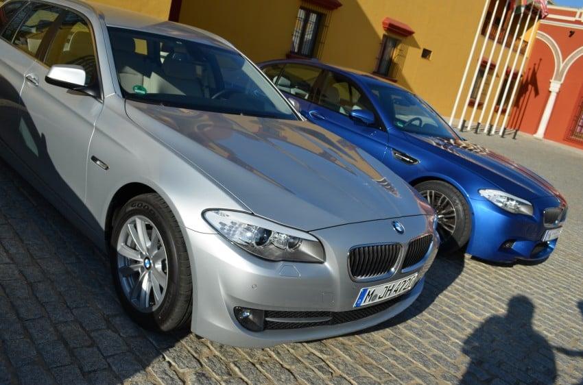 GALLERY: Regular F10 5-Series next to BMW M5 Image #71996