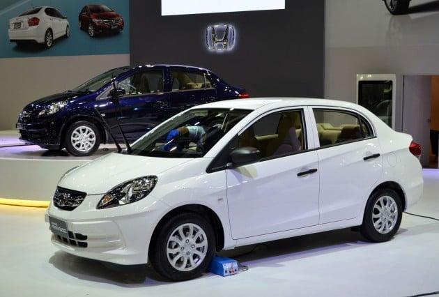 Honda Brio Amaze Brio Sedan Eco Car Makes Debut
