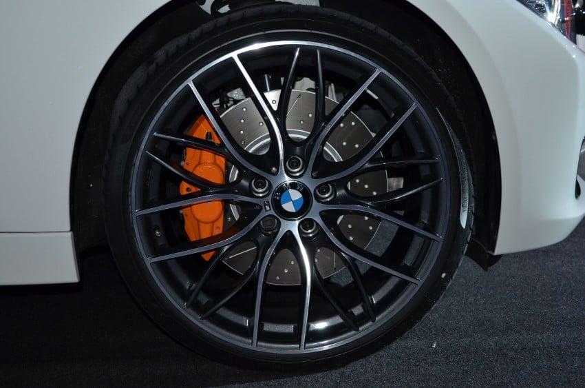 BMW F30 3-Series launch: BMW M Performance kit display Image #96629
