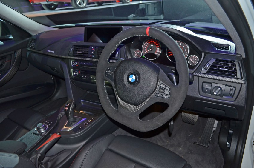 BMW F30 3-Series launch: BMW M Performance kit display Image #96621