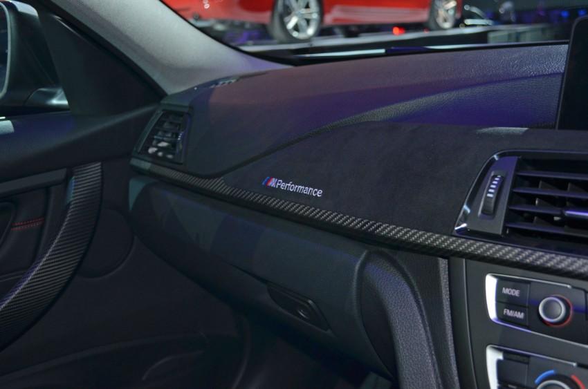 BMW F30 3-Series launch: BMW M Performance kit display Image #96623