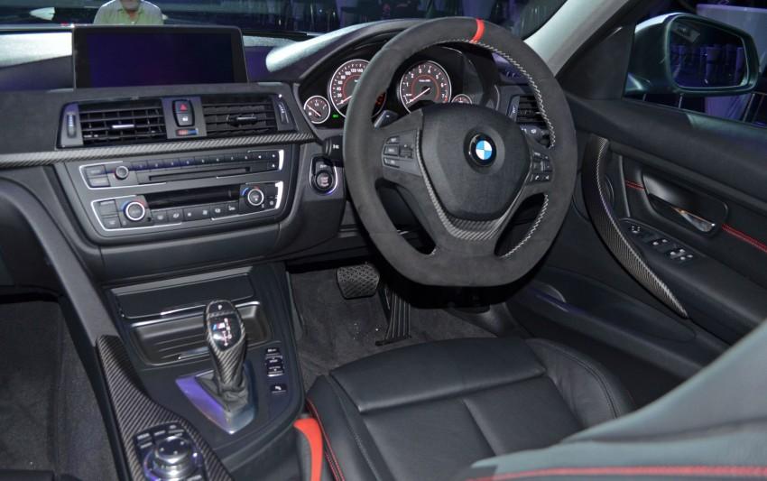 BMW F30 3-Series launch: BMW M Performance kit display Image #96624