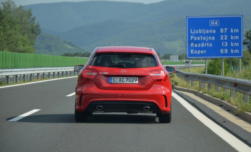 DRIVEN: W176 Mercedes-Benz A-Class – we sample the A200, A250 and A250 Sport in Slovenia Image #118537