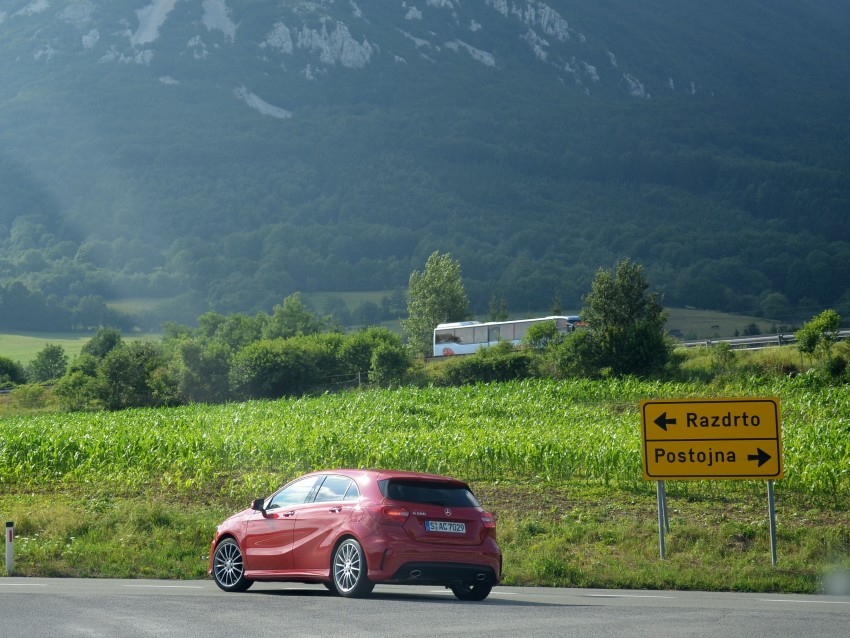 DRIVEN: W176 Mercedes-Benz A-Class – we sample the A200, A250 and A250 Sport in Slovenia Image #118541