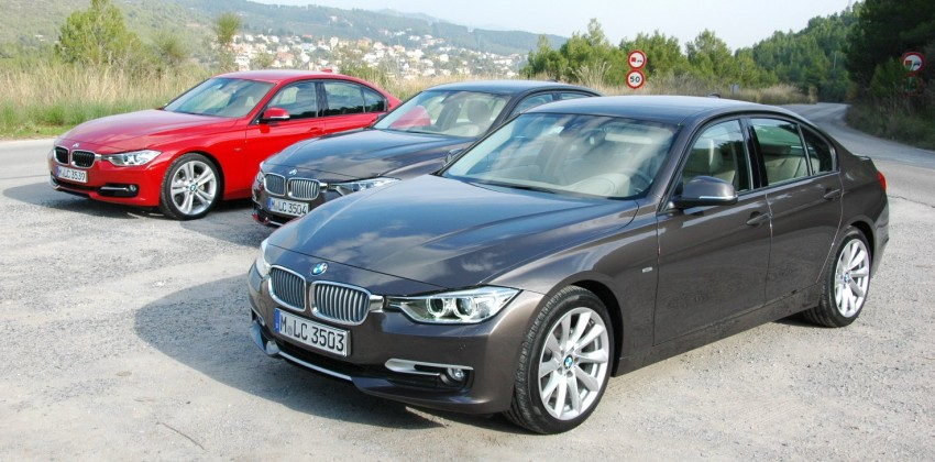 DRIVEN: BMW F30 3 Series – 320d diesel and new four-cylinder turbo 328i sampled in Spain! Image #85336