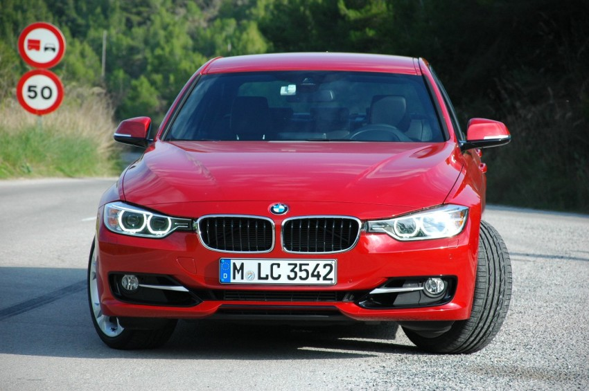 BMW F30 3-Series Test Drive Review – 320d diesel and new four cylinder turbo 328i sampled in Spain! Image #85312