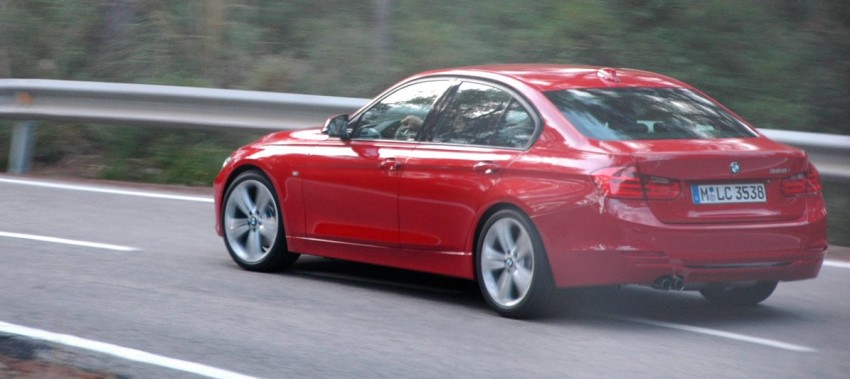 BMW F30 3-Series Test Drive Review – 320d diesel and new four cylinder turbo 328i sampled in Spain! Image #85292