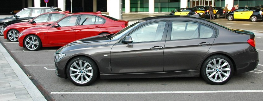 BMW F30 3-Series Test Drive Review – 320d diesel and new four cylinder turbo 328i sampled in Spain! Image #85330