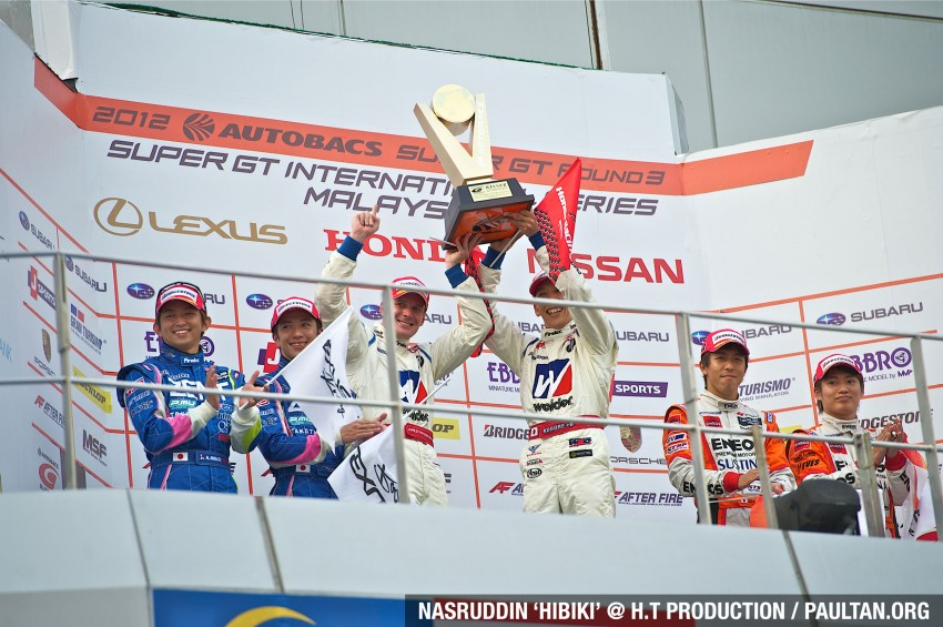 Autobacs Super GT 2012 Round 3: Weider HSV-010 and Hankook Porsche win from pole position Image #111999