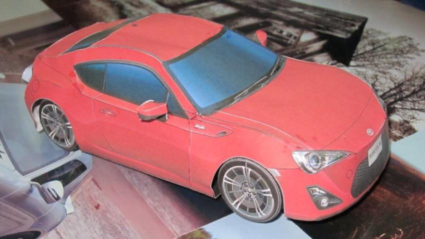 Toyota 86 assembled. Photo taken. Prize will be won. Image #104253