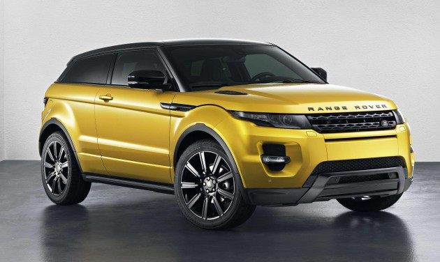 Evoque front three-quarter