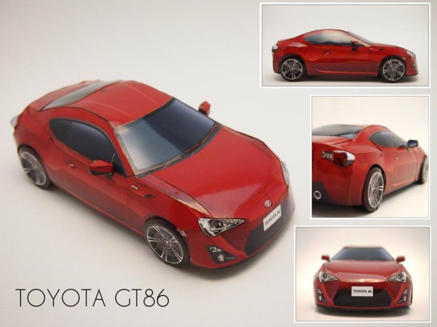 Toyota 86 assembled. Photo taken. Prize will be won. Image #104255