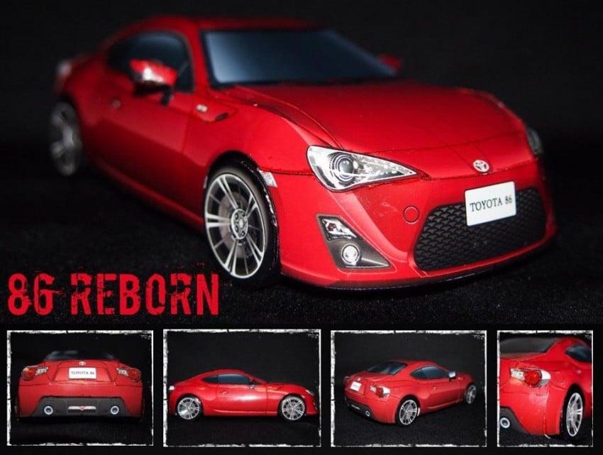 Toyota 86 assembled. Photo taken. Prize will be won. Image #104256