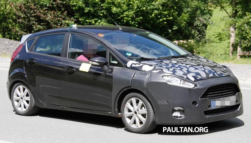 2013 Ford Fiesta facelift spyshots – hatchback model's new tail lamp design exposed Image #114679