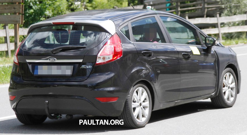 2013 Ford Fiesta facelift spyshots – hatchback model's new tail lamp design exposed Image #114675
