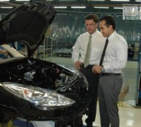 Gregoire Olivier, CEO Asian Operations (PSA Group) & SM Nasarudin, CEO Nasim view the soon to be launched Peugeot 207 (High Res)