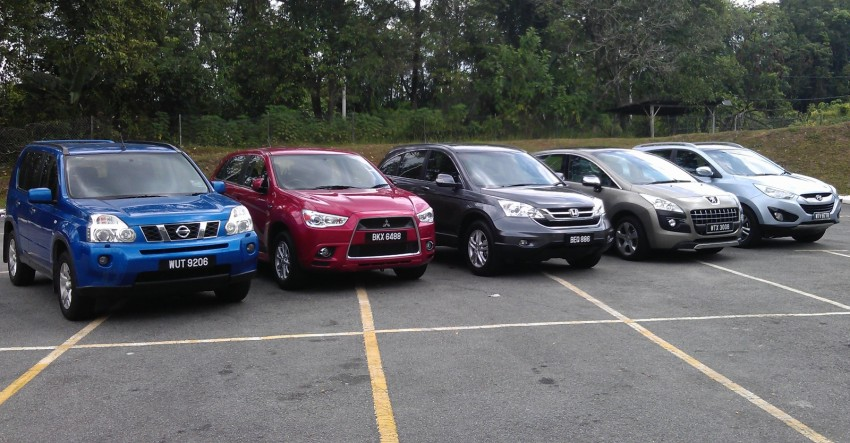 Suv Shootout Mitsubishi Asx Vs Nissan X Trail Vs Honda Cr