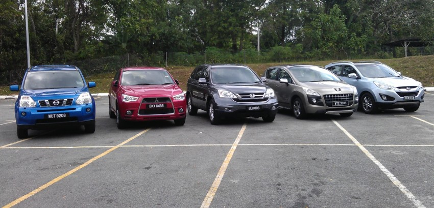SUV shootout: Mitsubishi ASX vs Nissan X-Trail vs Honda CR-V vs Hyundai Tucson vs Peugeot 3008! Image #154087