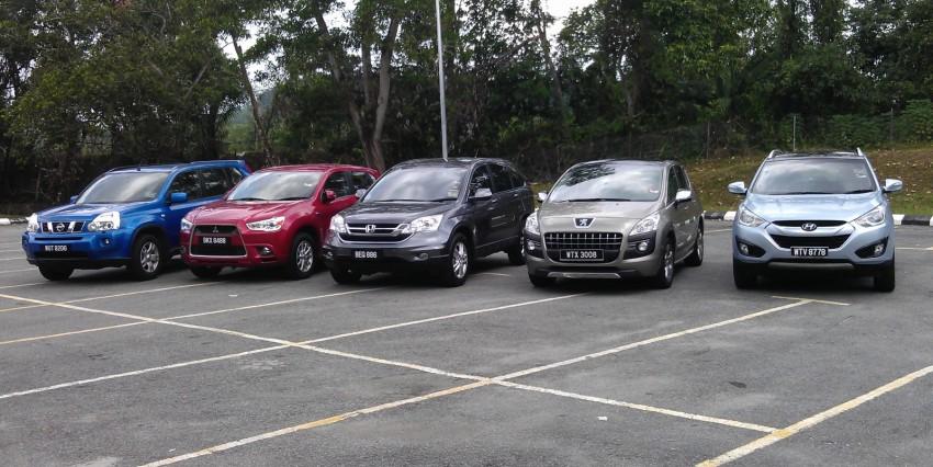 SUV shootout: Mitsubishi ASX vs Nissan X-Trail vs Honda CR-V vs Hyundai Tucson vs Peugeot 3008! Image #154086