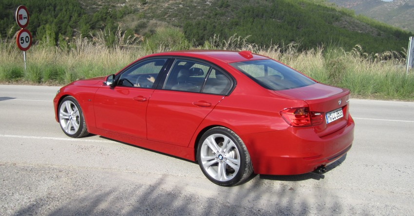DRIVEN: BMW F30 3 Series – 320d diesel and new four-cylinder turbo 328i sampled in Spain! Image #85241