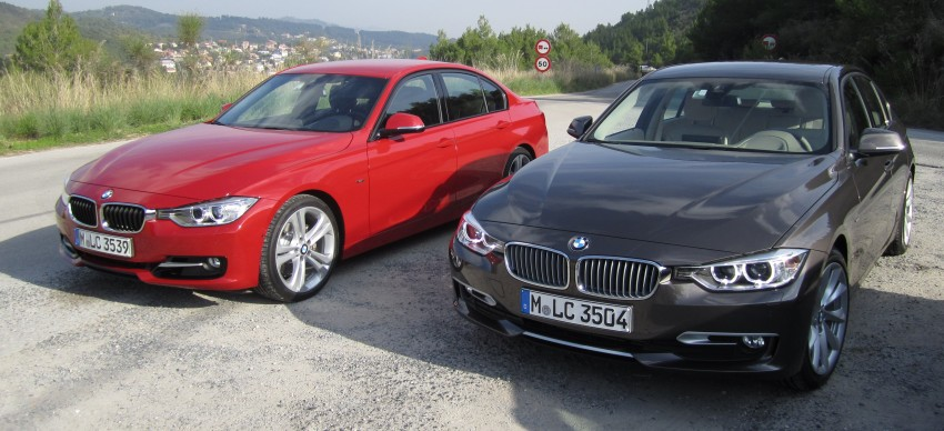 DRIVEN: BMW F30 3 Series – 320d diesel and new four-cylinder turbo 328i sampled in Spain! Image #85244