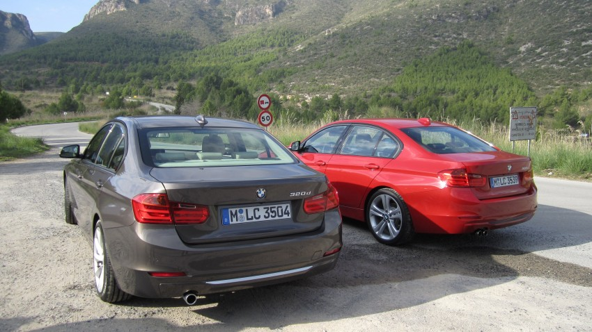 DRIVEN: BMW F30 3 Series – 320d diesel and new four-cylinder turbo 328i sampled in Spain! Image #85254