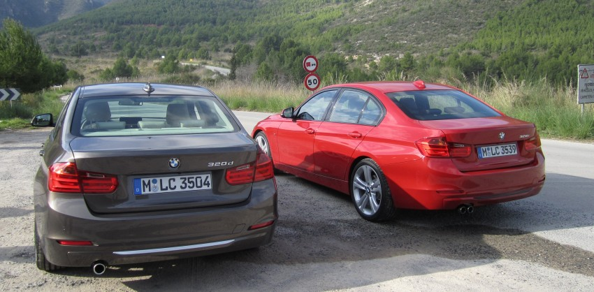 DRIVEN: BMW F30 3 Series – 320d diesel and new four-cylinder turbo 328i sampled in Spain! Image #85253