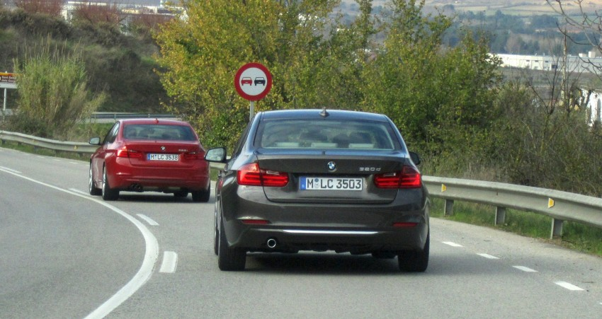 DRIVEN: BMW F30 3 Series – 320d diesel and new four-cylinder turbo 328i sampled in Spain! Image #85245